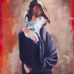 Behind the Veil / oil on canvas / 80x65 cm / 2014