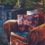 Her Vintage Armchair / oil on canvas / 80x65 cm / 2012