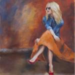 Paparazzi / oil on canvas / 80x65 cm / 2014