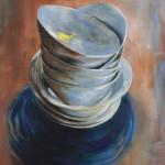 White Bowls 1 / oil on canvas / 90x70 cm / 2011