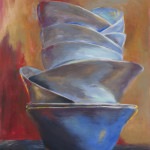 White Bowls 2 / oil on canvas / 90x70 cm / 2011