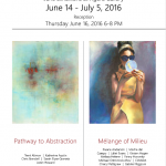 """June 14 – July 5, 2016:      """"Mélange of Milieu"""" – Agora Gallery, chelsea, New York, NY"""